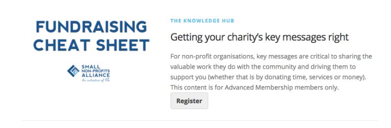 Small Non-Profits Alliance Knowledge Hub