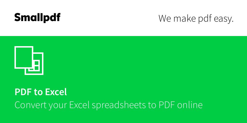 تحويل Pdf إلى Excel