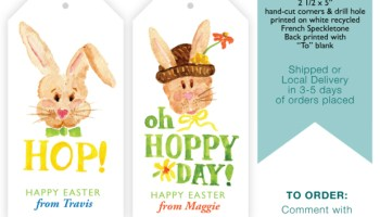 Print shop 2015 personalized easter tags small pond graphics personalized easter gift tags negle Images
