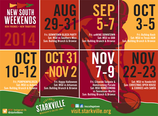 client work . Starkville's New South Weekends 2014