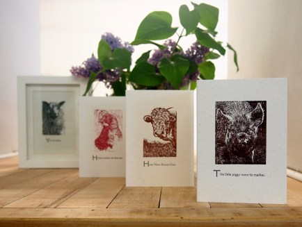Farmyard - Wood Engravings by Rob Chapman