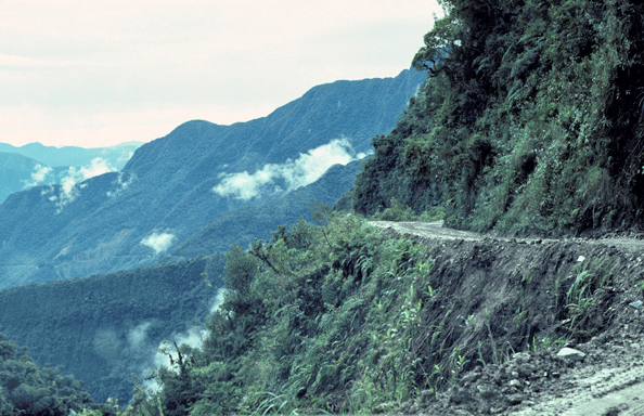 The Road of Death, Bolivia, 1991, by Yvon Maurice