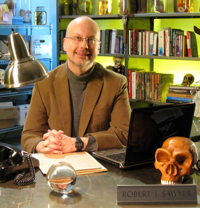 Robert J. Sawyer hosted Supernatural Investigator on Canada's Vision TV. The original series explored various so-called supernatural phenomena. Photo by Carolyn Clink, 2008.