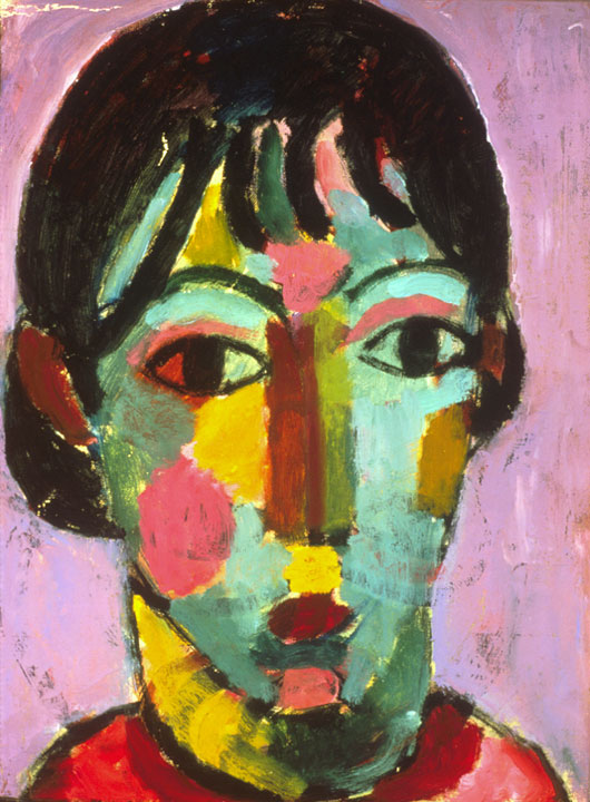 Young Girl, 1915 by Alexej Jawlensky.  © 2018 Long Beach Museum of Art.