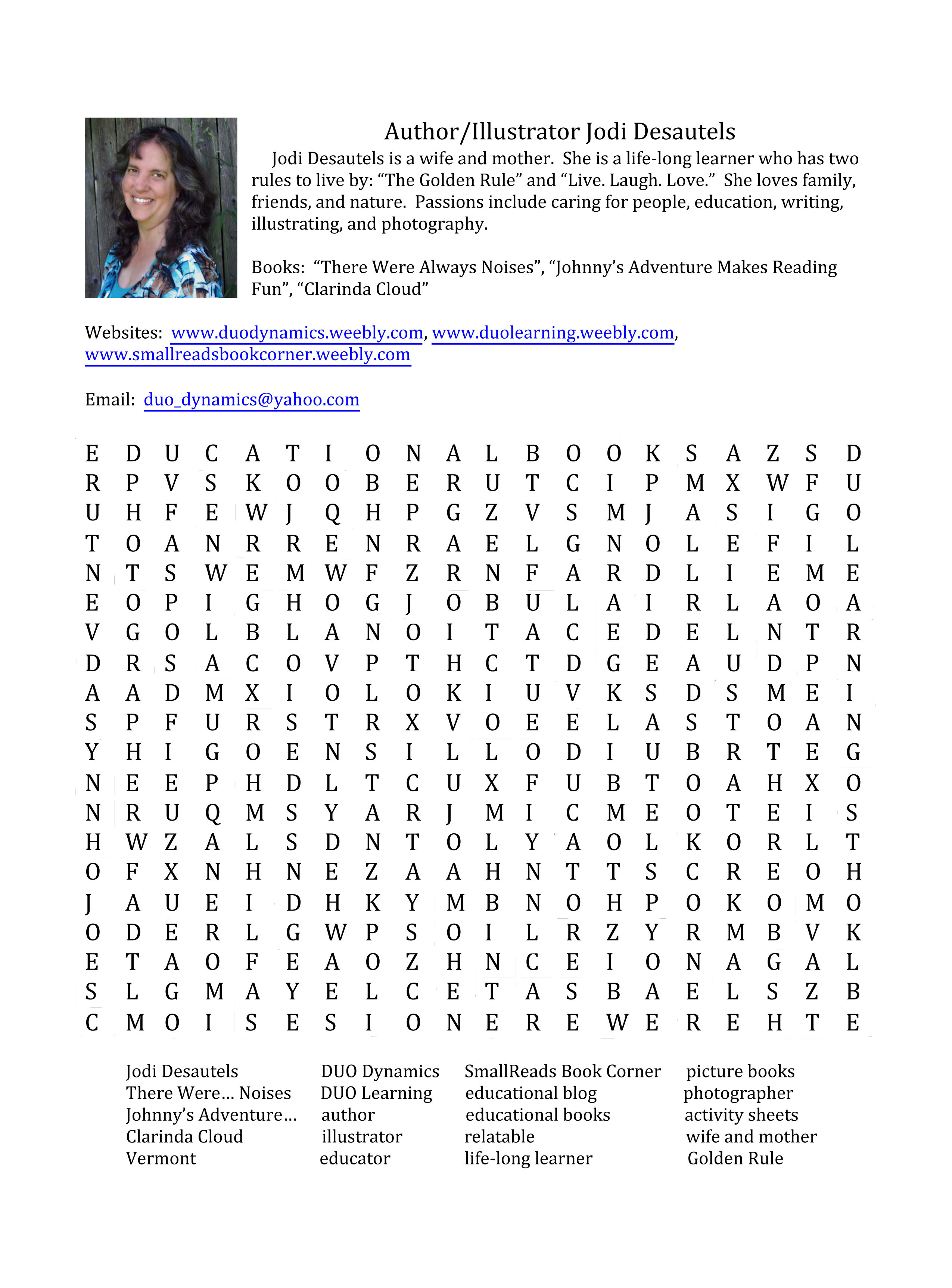 Authors And Illustrators Join The Fun In A Word Search