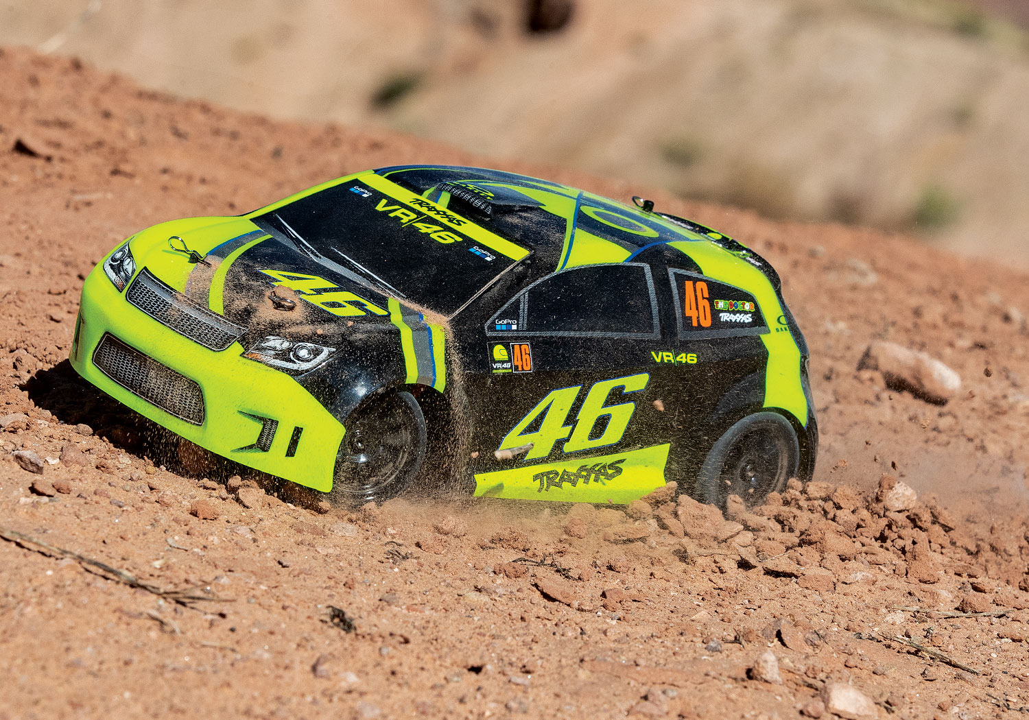 LaTrax Valentino Rossi Rally Car - Dirty