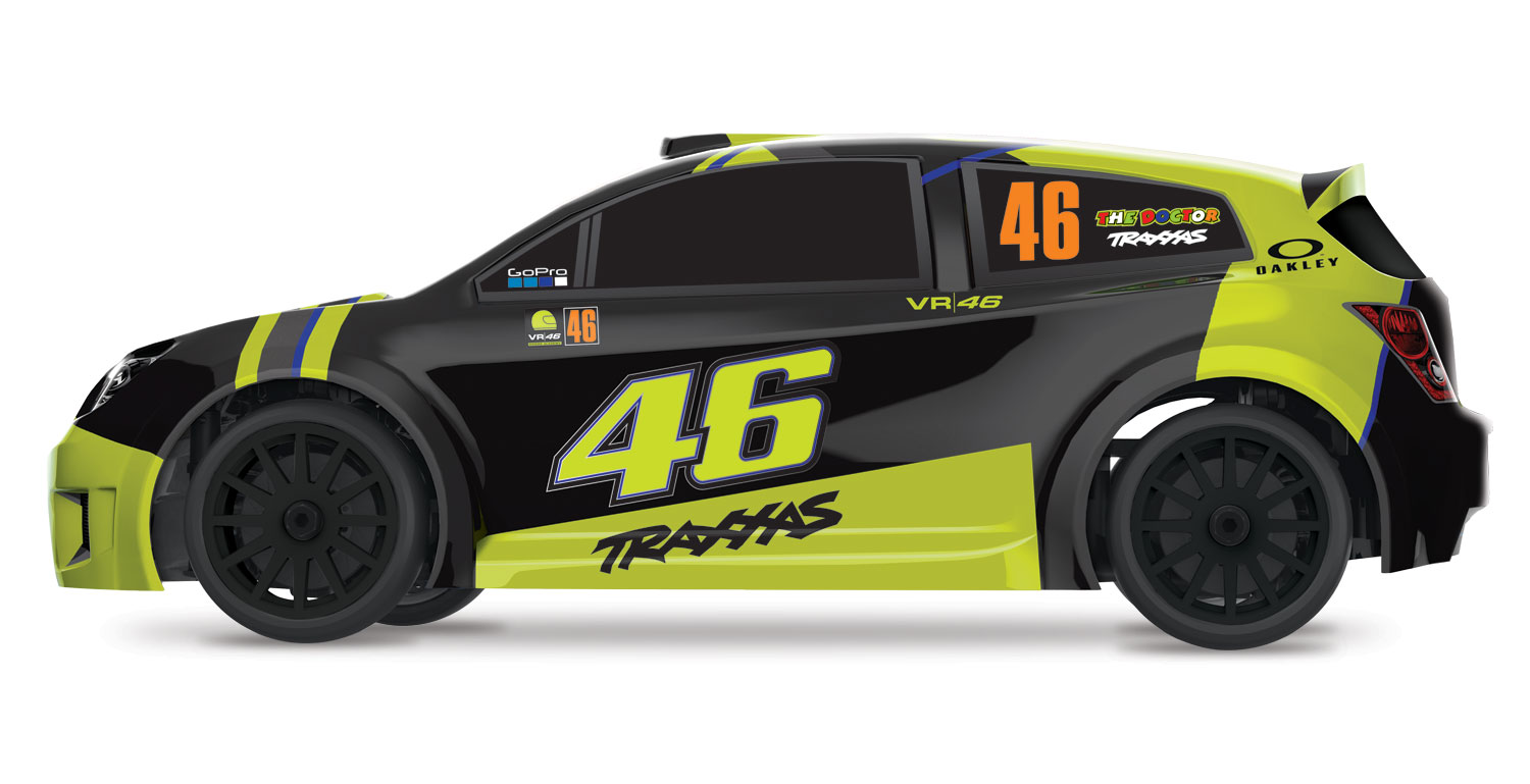 LaTrax Valentino Rossi Rally Car - Side