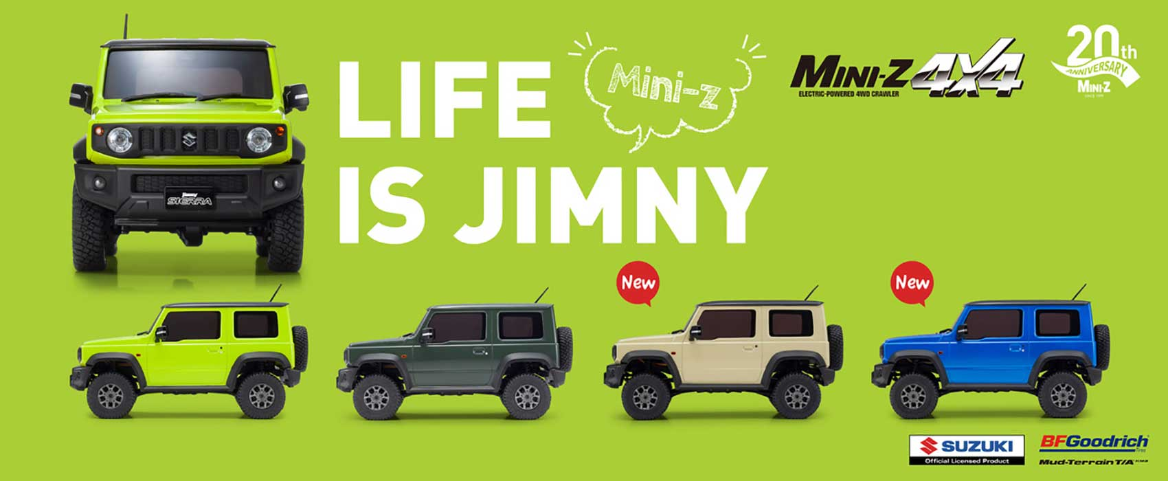 Kyosho's Mini-Z 4×4 Suzuki Jimny Now Available in Four Colors