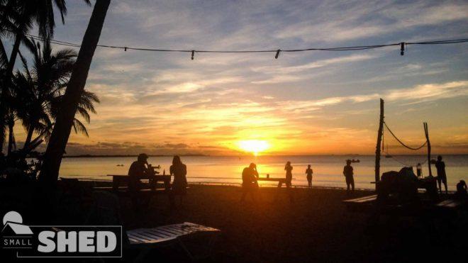 Nadi - bamboo - hostel - fiji - sunset