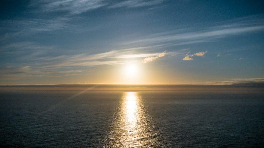 Il sole di mezzanotte visto da Caponord