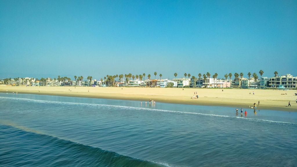 Venice Beach spiaggia veduta dal mare