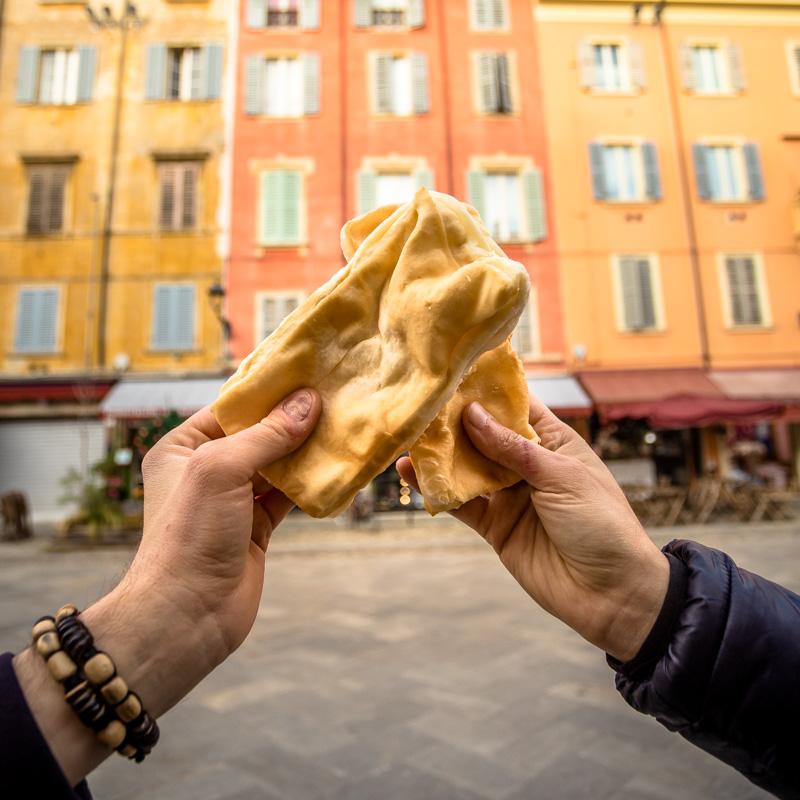 Modena gnocco fritto