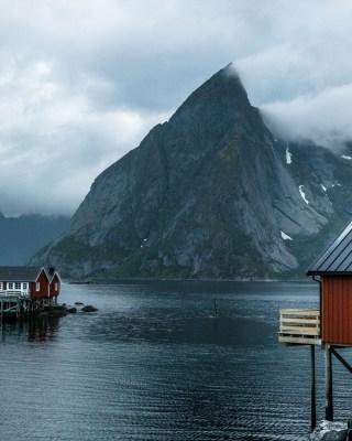 Panorama isole lofoten norvegia casette rosse