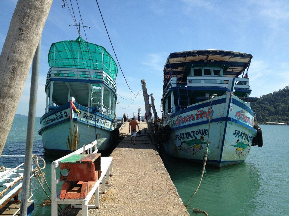 Due barche al porto di Ban Bangbao