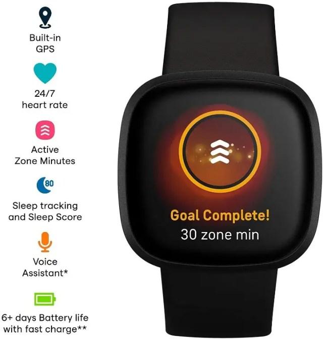 Best Smartwatches 2021 - Fitbit Versa 3 specs - smallsmartwatch.com
