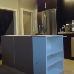 How To Build A Kitchen Island With Cabinets White Glass Doors Building Small Space Style