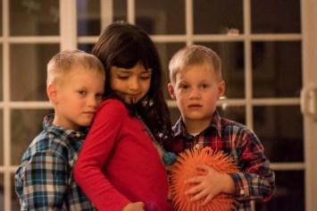 Niece and nephews posing