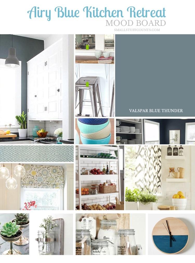 Kitchen Mood Board Airy Blue Retreat