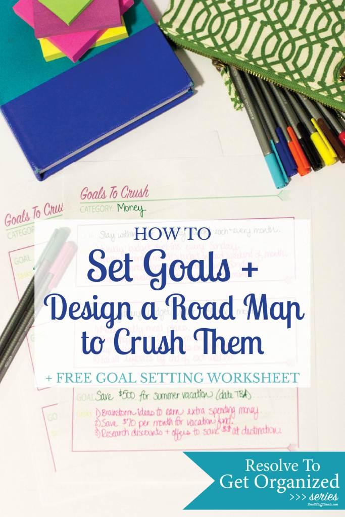 Tired of making new year resolutions with no plan to actually make them happen? Start setting goals and learn how to crush them - free worksheet printable!