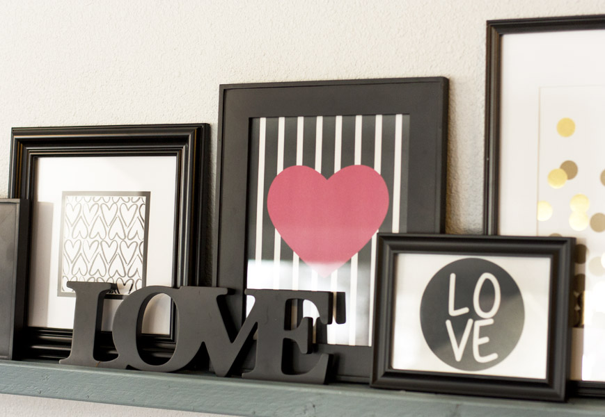 These Valentine's Day printables would be perfect to add to my gallery wall