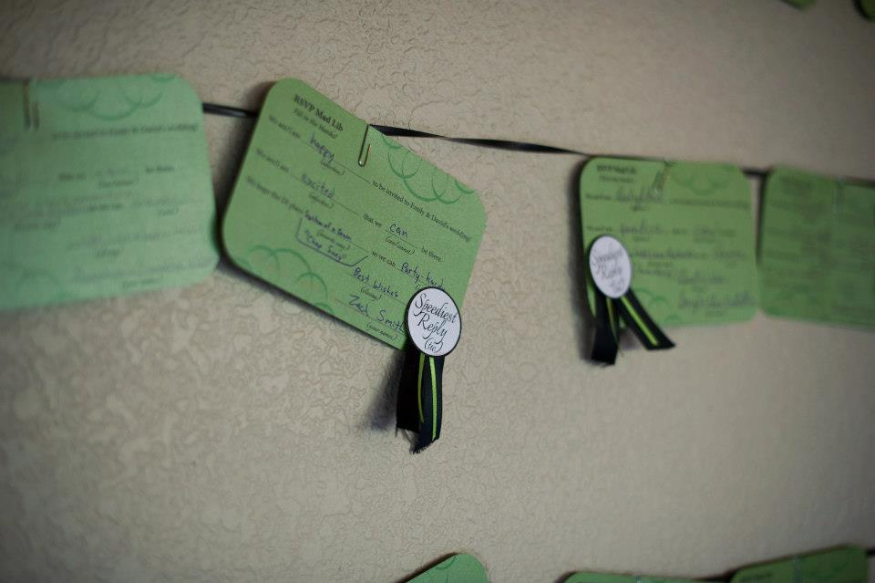 These mad lib wedding RSVPs would be so fun to use in our invitations! What a creative DIY wedding idea.