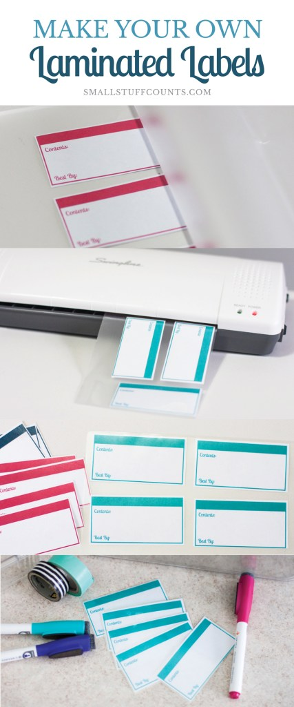 Wondering how to laminate labels? This tutorial will show you exactly how to use a laminator to create durable labels and other organization/craft projects.
