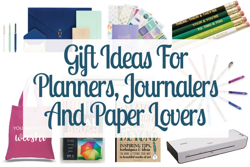 Check these out! Such good gift ideas for planners, journalers and paper lovers. Seriously, you have to pin this post! Gift Guide | Planner Gifts | Planner Supplies | Journal Gifts | Paper Fanatics