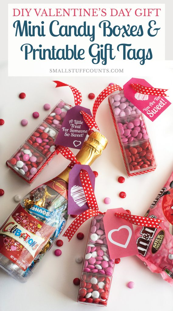 DIY Valentine39s Day Gift Mini Candy Boxes Printable