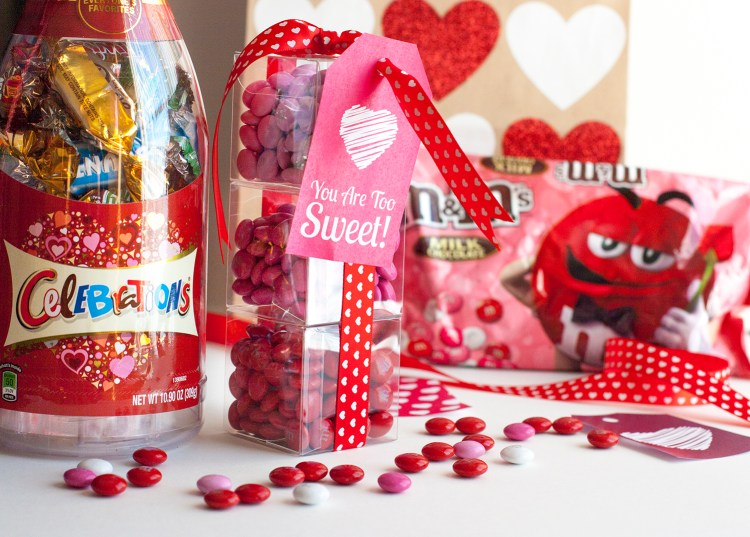 This DIY Valentine's Day gift is so stinkin' cute! Check out those adorable mini boxes of M&M candies! and those pretty gift tags. Love that she shared the free printable gift tags so you can use on your own Valentine's Day gifts.