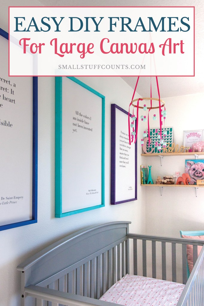 colorful-nursery-with-large-diy-picture-frames-above-crib