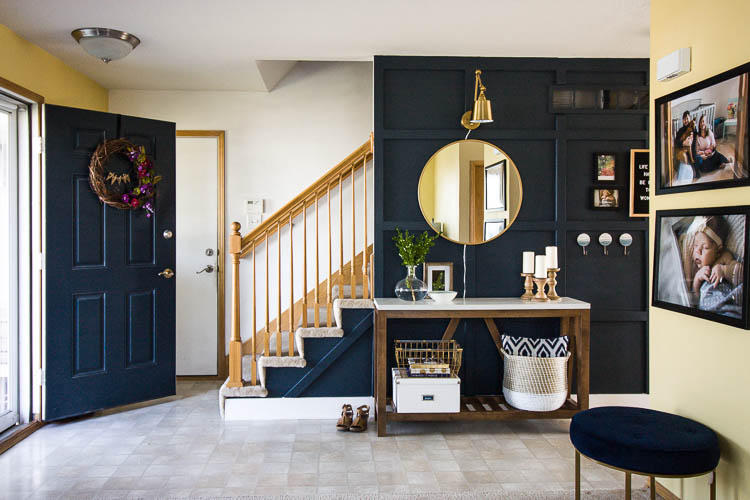 Our Modern Navy Small Entryway Makeover Stuff Counts