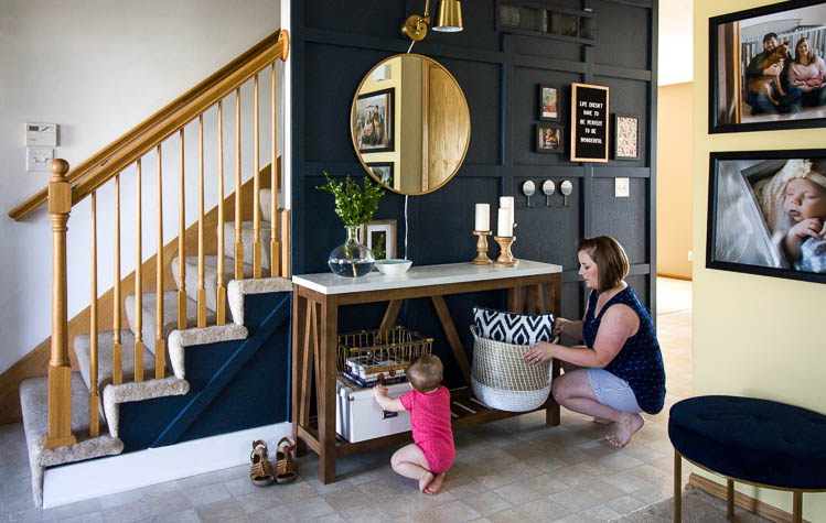 small-entryway-makeover-navy-walls