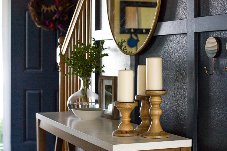 entryway-console-table-with-candles-and-vase
