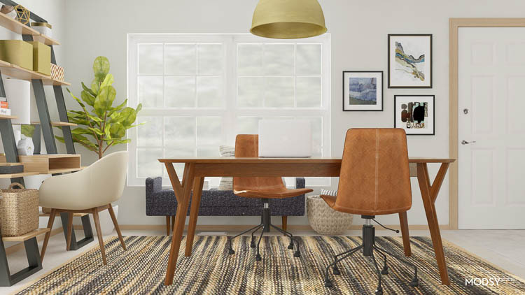 midcentury-table-in-office-design