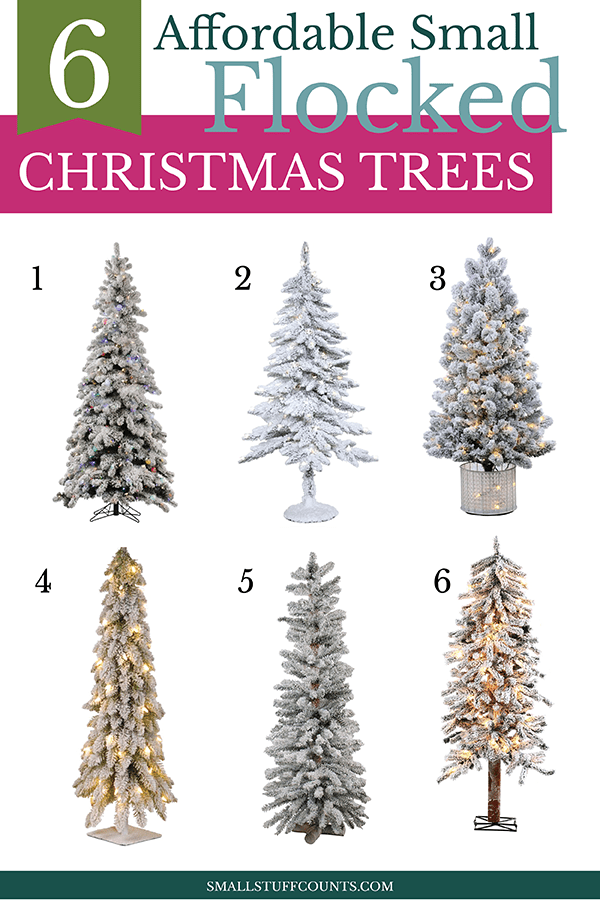 affordable-small-flocked-christmas-trees