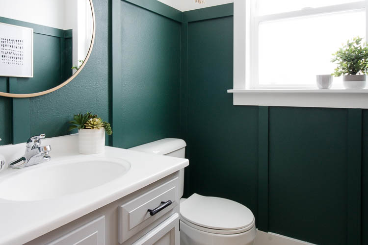 Modern Green Bathroom Makeover - Small Stuff Counts