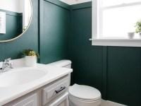Modern Green Bathroom Makeover
