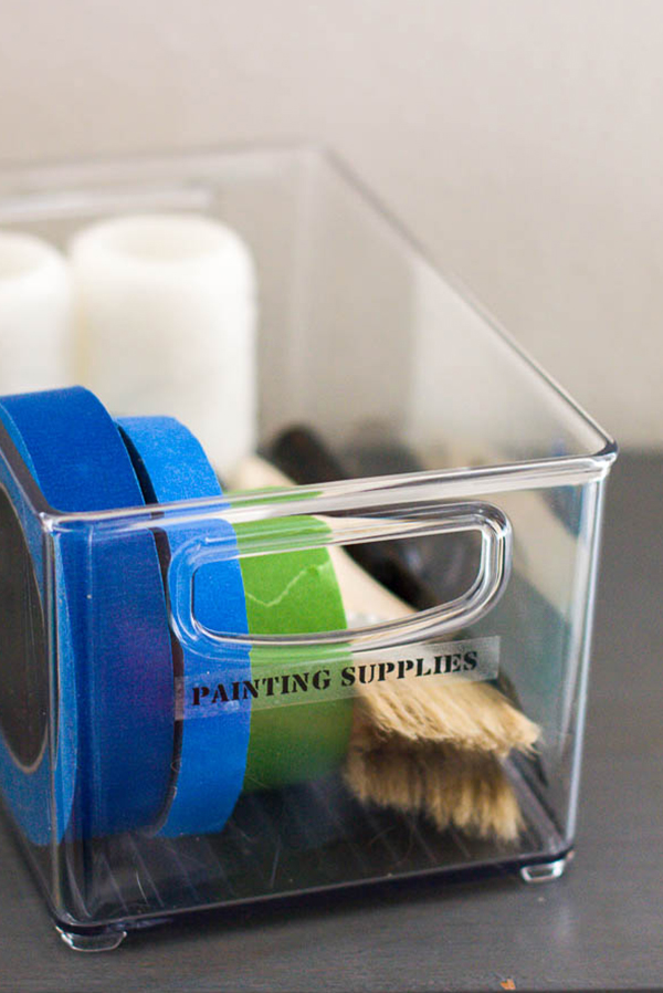 label-maker-label-on-bin-of-painting-supplies