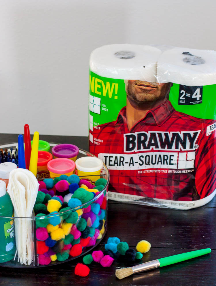 kids-art-caddy-with-brawny-paper-towels