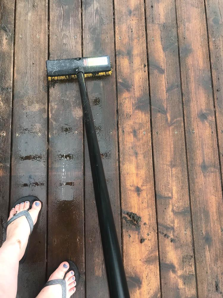 scrubbing-a-deck