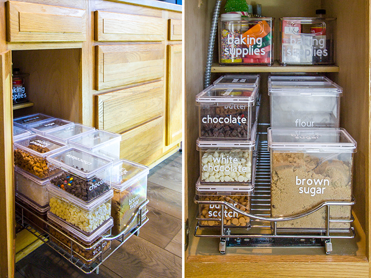 clear-pantry-containers-in-pull-out-drawer-of-lower-cabinet