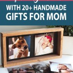 picture frame with text overlay of mother's day gift ideas
