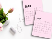 Free May 2020 Calendar Printables | Sunday And Monday Start