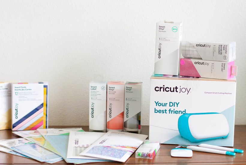 cricut joy box with rolls of smart materials