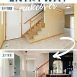 before and after images of entryway