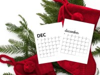 Free December 2020 Calendar Printables | Sunday And Monday Start