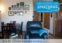 Organizing My Apartment {5 Rules For A Small Living Room