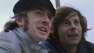 Roman Polanski sert d'intervieweur pour Jackie Stewart, accentuant le côté personnel et intimiste du film. (Crédit : Pathé)