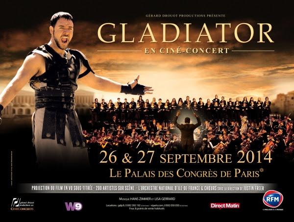 ciné-concert - Gladiator, l'experience du ciné-concert Gladiator cine concert