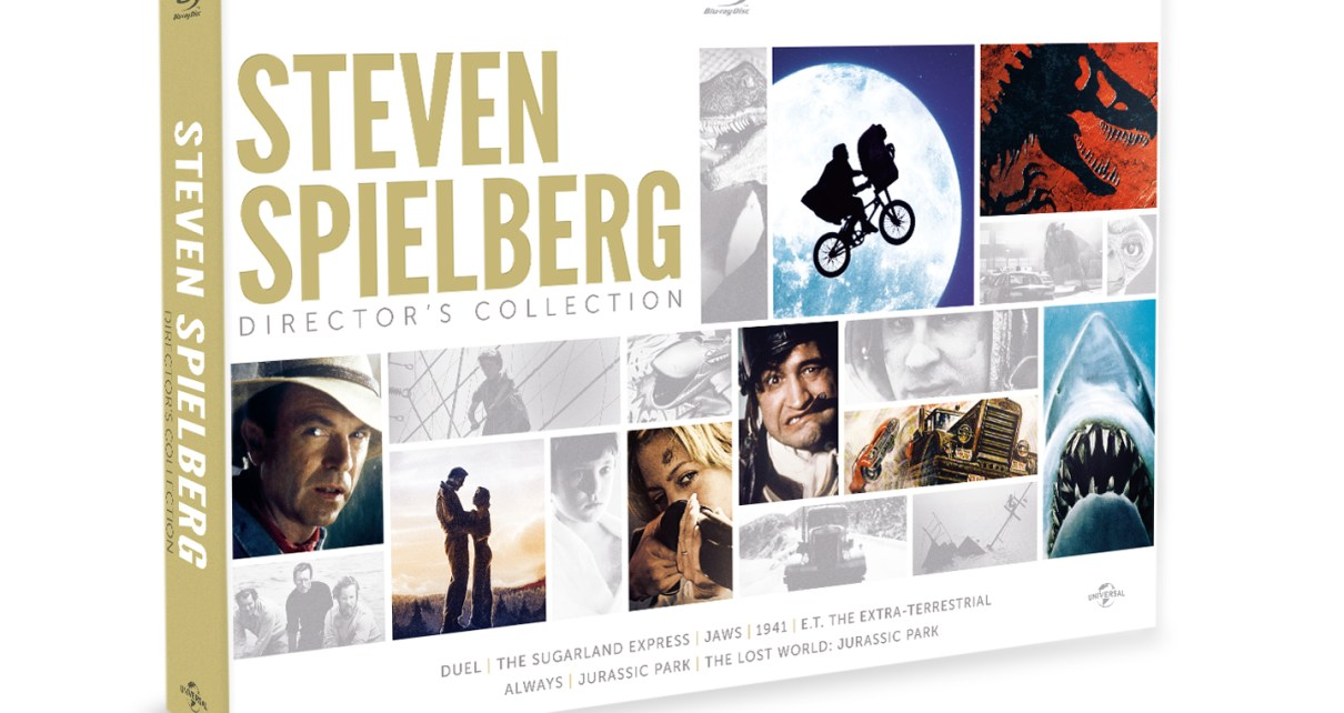 steven spielberg - 4 inédits bluray pour le coffret Spielberg ! Packshot 3D Coffret Spielberg1